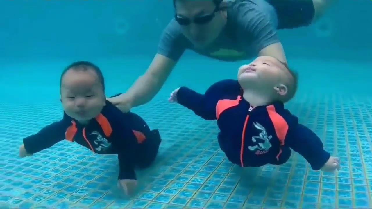 أطفال يحبون السباحة أجمل الأطفال يسبحون تحت الماء Youtube