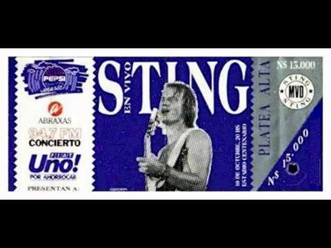 STING - Montevideo 10-10-1990 Estadio Centenario (Uruguay) FULL SHOW AUDIO