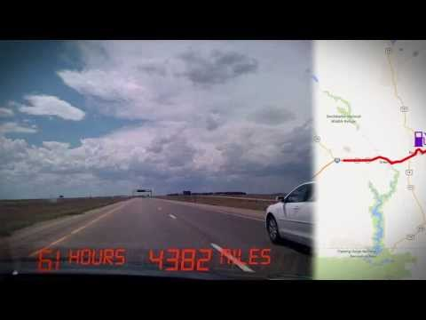 Time-lapse Road Trip with Map - 5,438 Miles in 13 Minutes