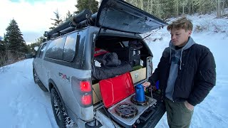 Truck Camping in Sub-Freezing Weather: Birтhday Overnight in the Mountains