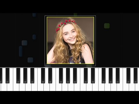 Sabrina Carpenter - ''Too Young''  Piano Tutorial - Chords - How To Play - Cover