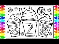 How to Draw a Cute Warm Drink | Step by Step | Peppermint Mocha | Drawing a Cup of Coffee
