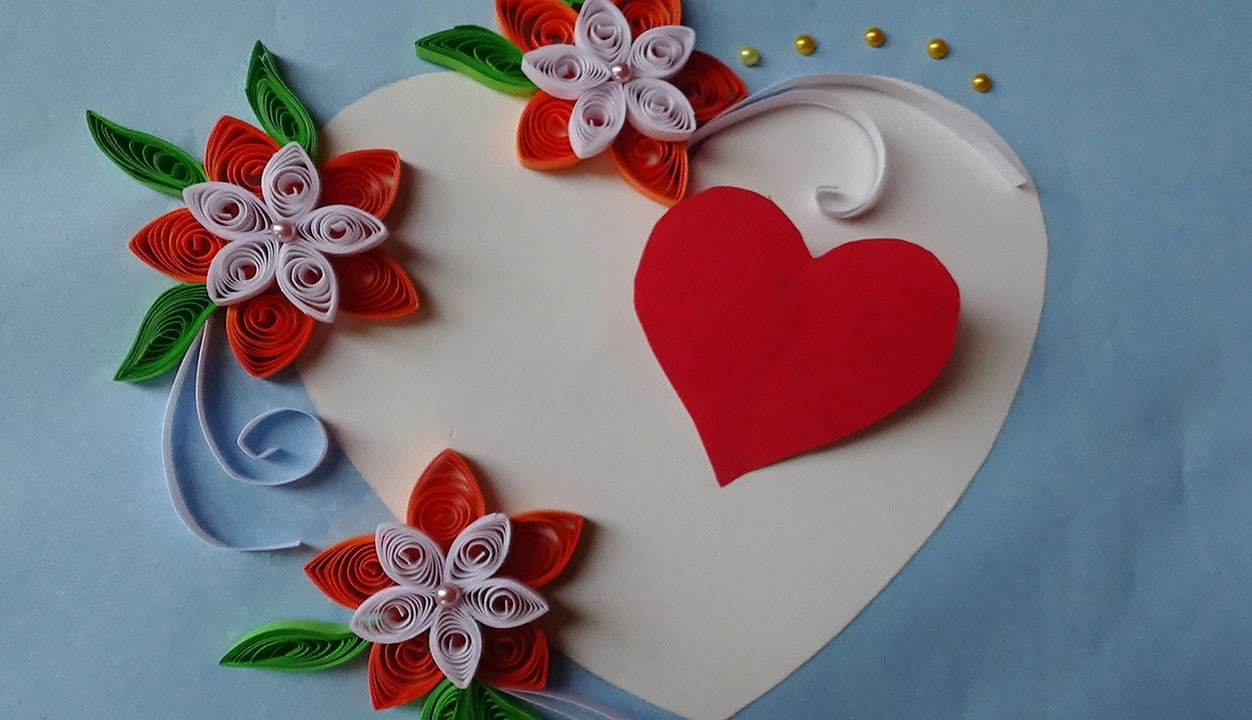 Paper Quilling | How to make Beautiful Quilled Wedding Card with ...