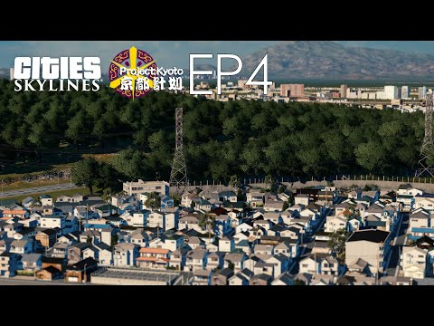 Build a Japanese style community along the mountainside  - Cities Skylines: Project Kyoto EP4 |
