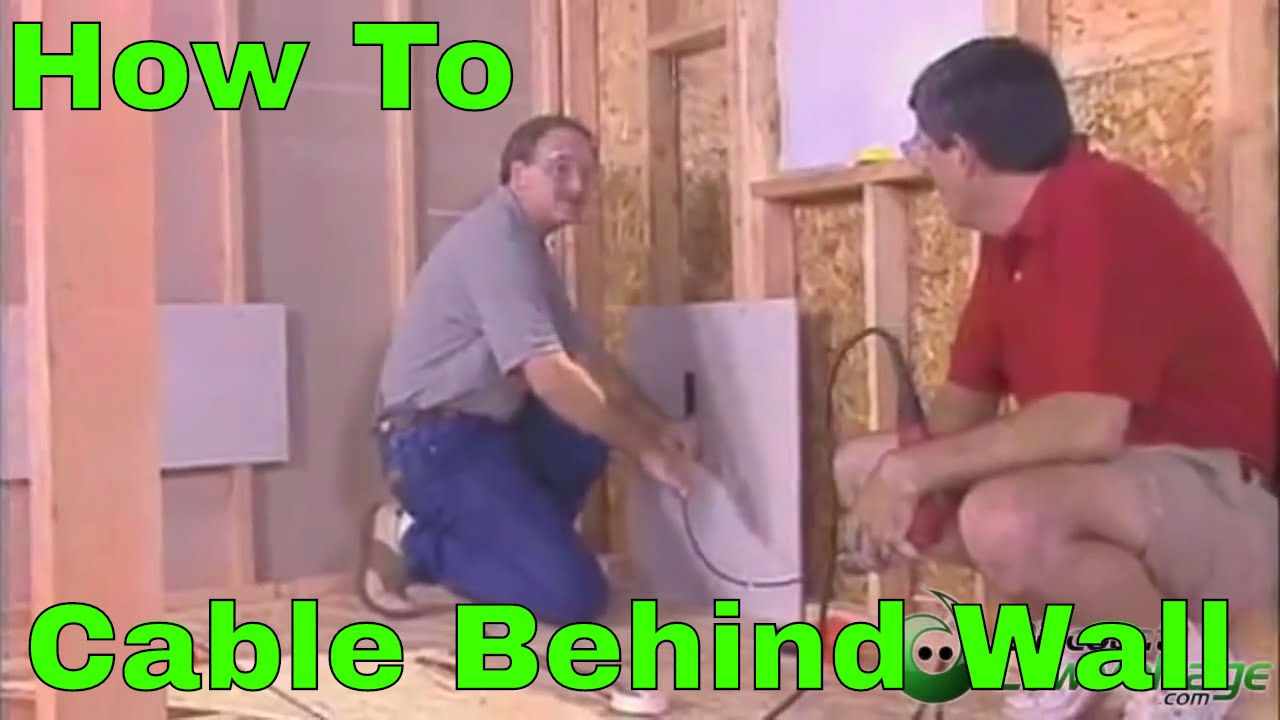How To Run Cable Through The Wall Demonstration Easy Home Cabling Wiring Behind Plaster Walls Installation Youtube