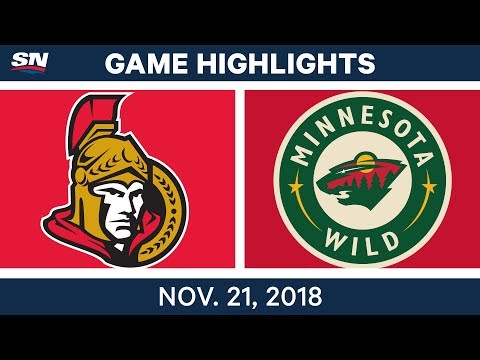 NHL Highlights | Senators vs. Wild – Nov. 21, 2018