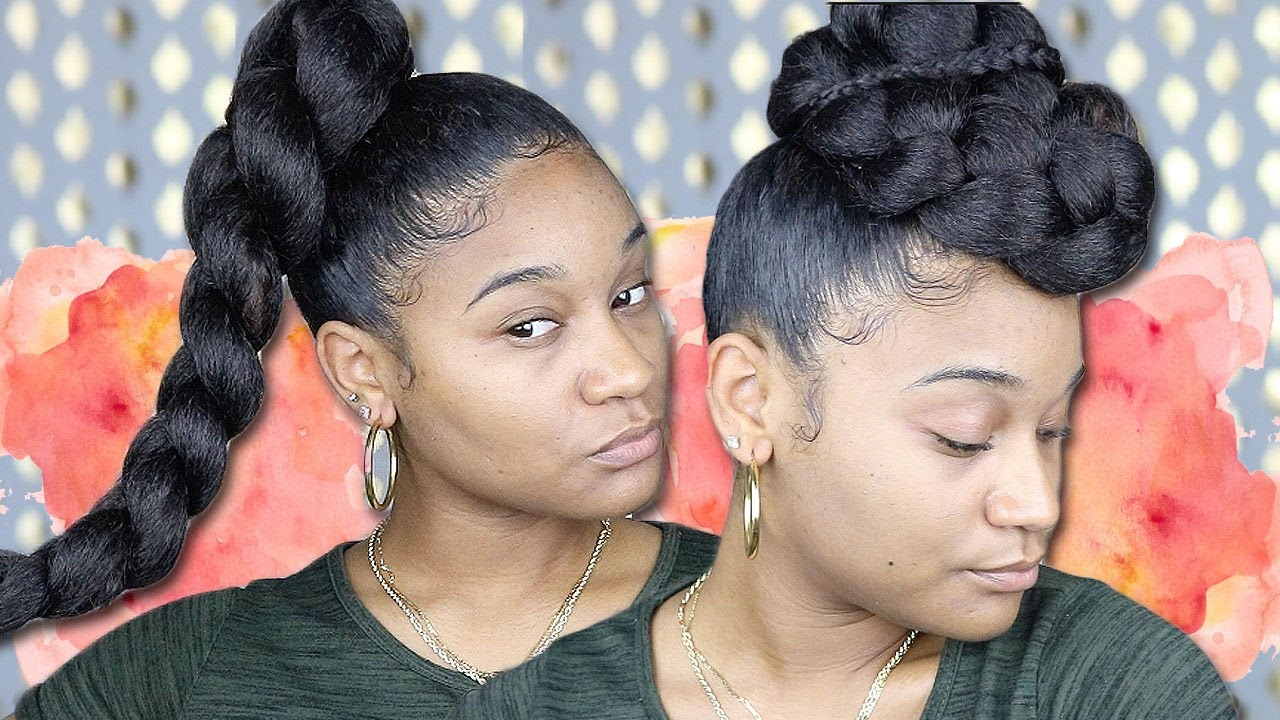 Easy Styles With Braiding Hair - YouTube