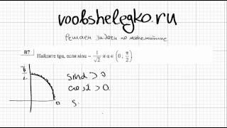 ЕГЭ по математике.  Диагностический тест 25.09.12. Задача B7.