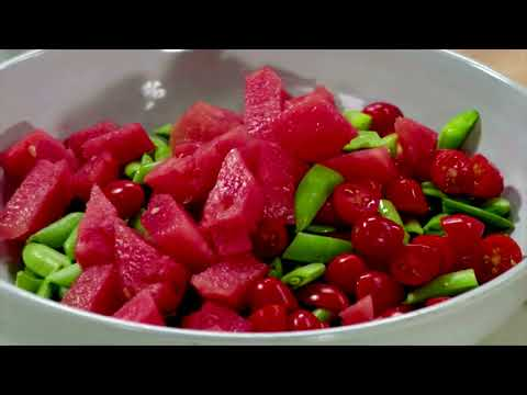 Ellie Krieger's Sugar Snap Pea, Tomato and Watermelon Salad