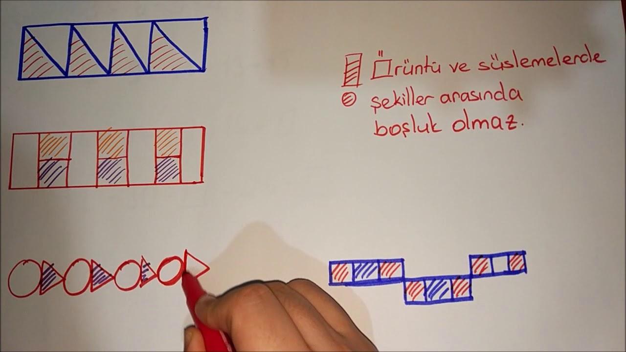 3 Sinif Matematik Oruntu Ve Suslemeler Youtube