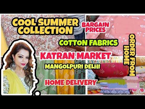 Katran Market Mangolpuri Fresh summer fabrics l Slub Cotton, Rayon latest collection l ShwetaDhiraj