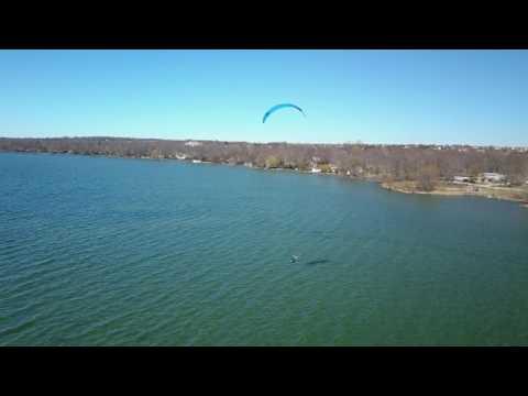 Foil Boarding April 2017 Lake Simcoe