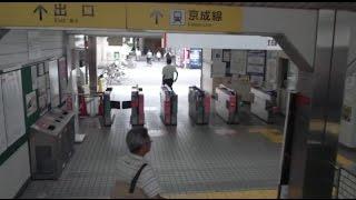 それぞれの駅がこんなに近いのも珍しいです。 外に出る乗り換えのタイプ...