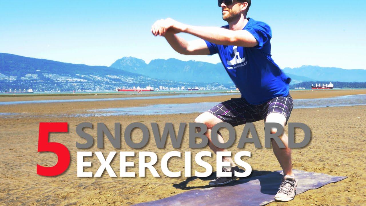 單板滑雪要先練的五種肌力訓練 (中文字幕) - YouTube