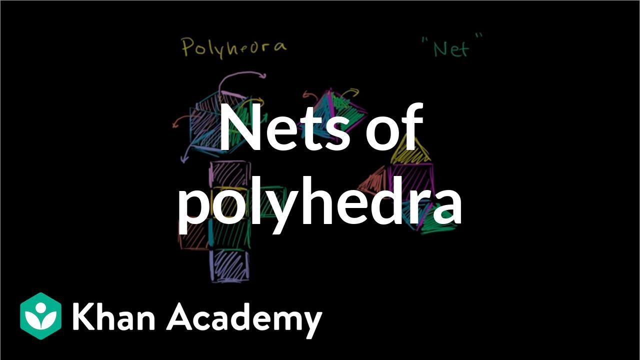 Intro to nets of polyhedra (video)   Khan Academy [ 720 x 1280 Pixel ]