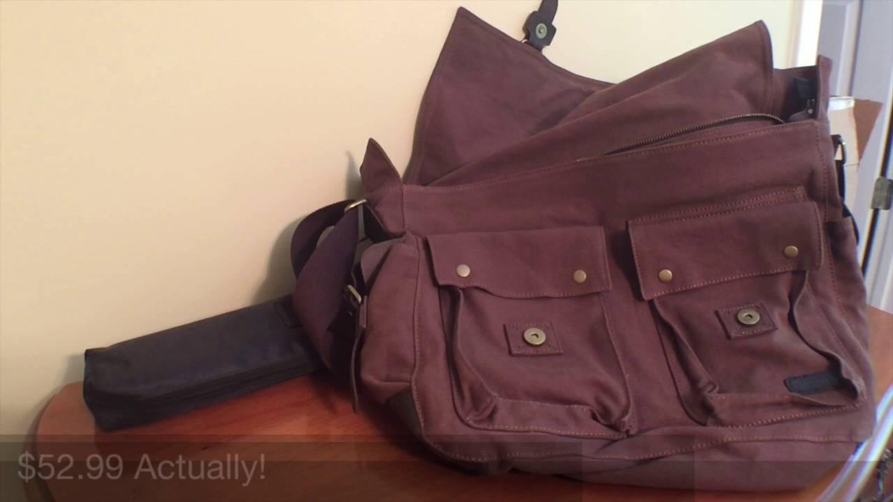 301e798d85 Messenger Bags Reviewed! Berchirly Vintage Military Men Canvas Messenger Bag