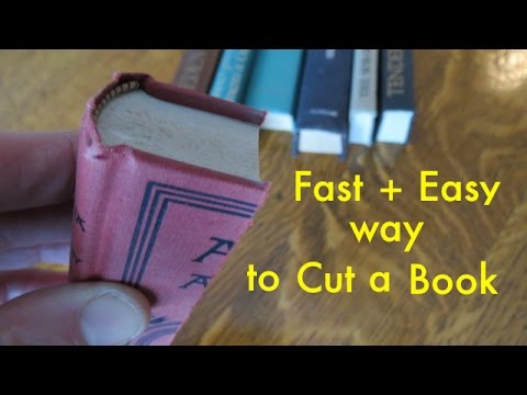 How To Cleanly And Accurately Cut A Book For Fake Shelf
