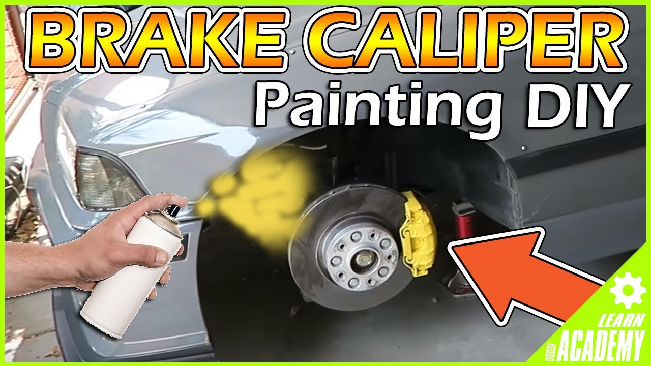 how to paint brake calipers the easiest way!