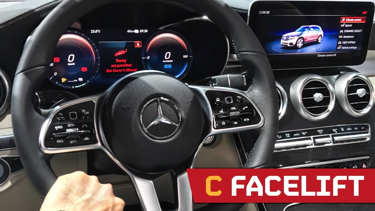 Mercedes Amg Coupe 2017 >> FACELIFT Mercedes C Class - The NEW Digital Interior! IAA 2017 - YouTube