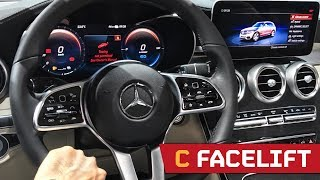 FACELIFT Mercedes C Class - The NEW Digital Interior! IAA 2017