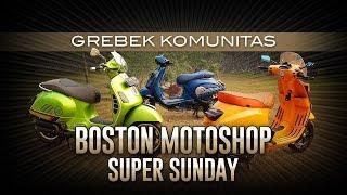 Modifikasi Vespa Meriahkan Super Sunday Boston Motoshop