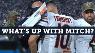 Mitch Trubisky injured, or did they give up on their QB? | Football Aftershow | NBC Sports Chicago