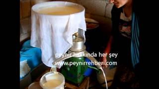 Süt makinesi ile kaymak yapımı