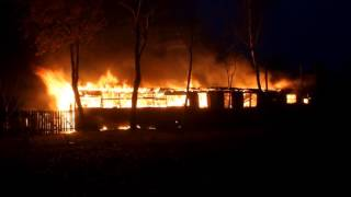 Płonęły dwa budynki gospodarcze