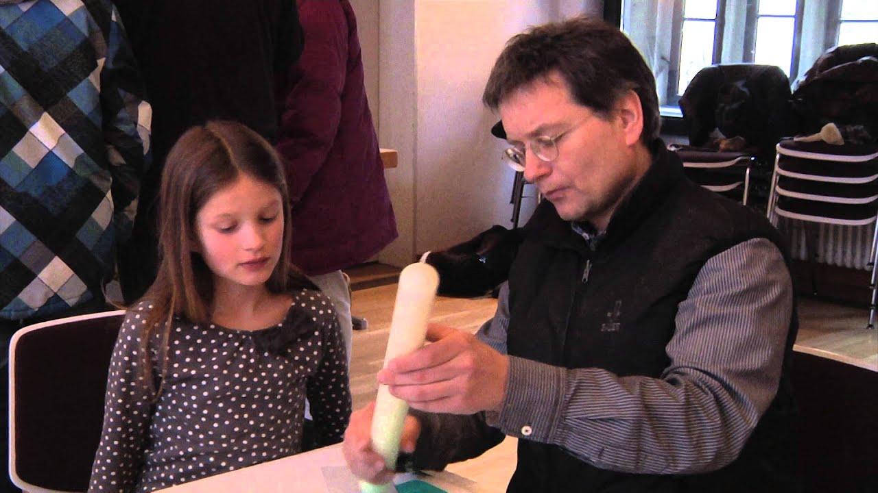 Vorbereitung Fur Die Erstkommunion Kerzen Basteln Youtube