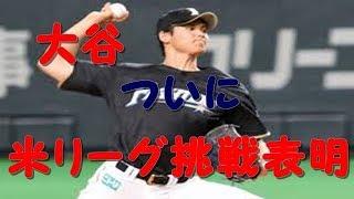 日本ハム・大谷、大リーグ挑戦表明「このタイミングで決めた」 代理人はバレロ氏