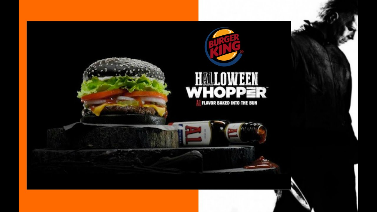 NEW BLACK BUN BURGER KING A1 HALLOWEEN WHOPPER REVIEW #184 - YouTube