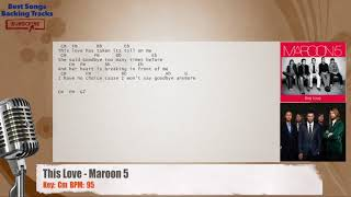 This Love - Maroon 5 Vocal Backing Track with chords and lyrics