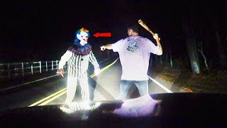 HUNTING KILLER CLOWNS ON CLINTON ROAD (HE ATTACKED ME)