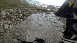 Yamaha XT660R on the Highest Offroad Trails in the Alps (Stella Alpina 2013)