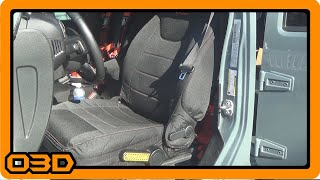 Bartact Front Seat Cover Install (Side Air Bag Compatible)