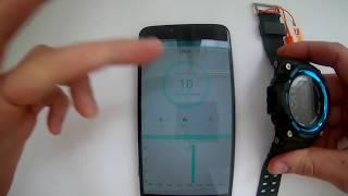 Смарт годинник Skmei 1227 Smart Watch додаток XWatch, його настройка, інструкція російською, українською відгуки