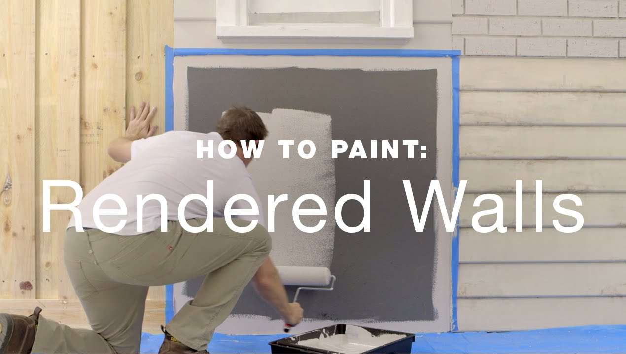 How to paint exterior rendered walls youtube - Painting exterior walls rendered ...