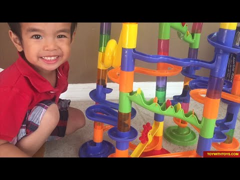 Marble Race Toy Unboxing by Kinder Playtime