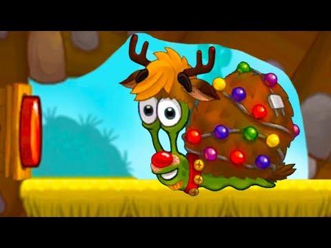 УЛИТКА БОБ 3 - ОЛЕНЬ и ЛЕГО #14 Snail Bob с Кидом. Мультик игра на пурумчата