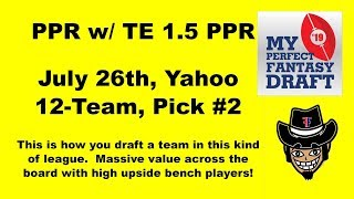 This Is How You Draft A Ppr Team With Te Bonus!