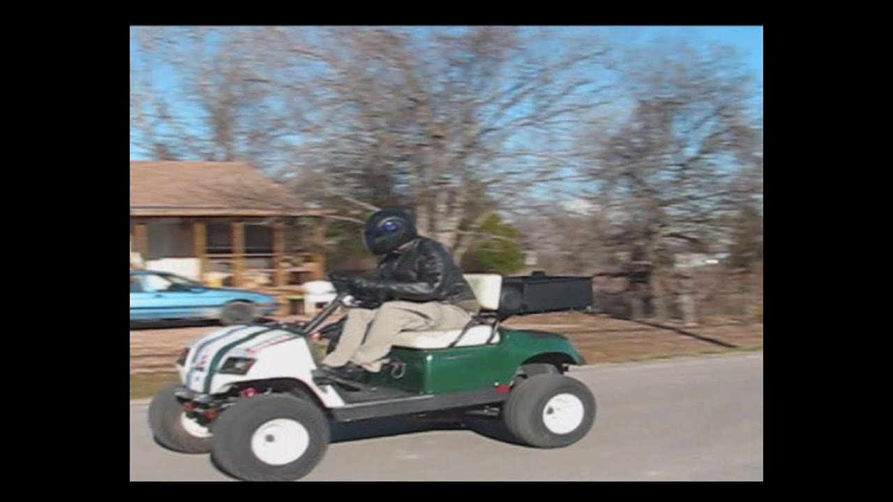 85 Mph In A Bad Ass Lifted 750cc Motorcycle Powered Golf
