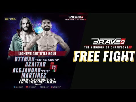 BRAVE 9  Lightweight World Title - Alejandro Pato Vs Ottman Azaitar