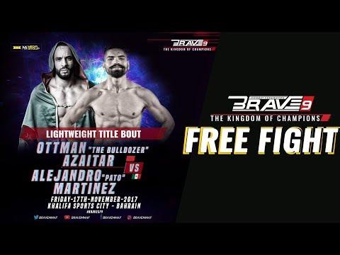 BRAVE 9  Lightweight World Title  Alejandro Pato Vs Ottman Azaitar