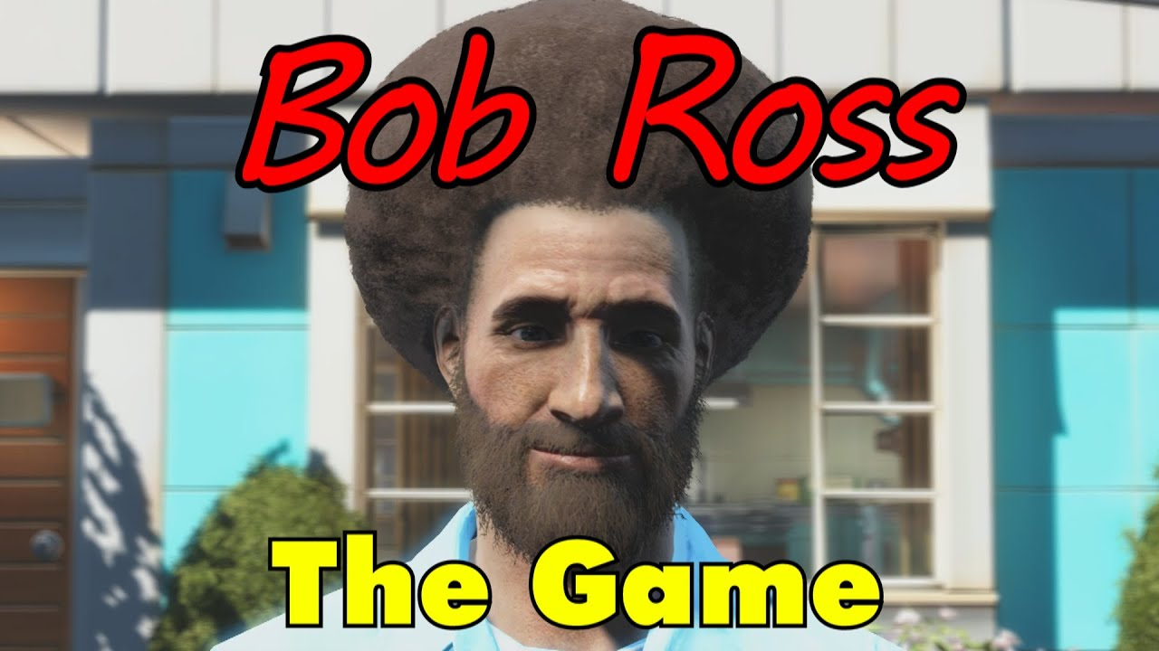 The Bob Ross Video Game The Joy Of Painting In Fallout 4 Youtube