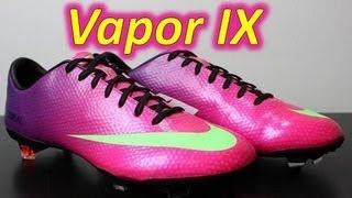 Nike Mercurial Vapor 9 IX Fireberry/Electric Green/Red Plum - Unboxing + On Feet