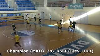 Handball. Champion (MKD) - KSLI (Kiev, UKR). U16 boys. TROPHY-2018. Smederevo.