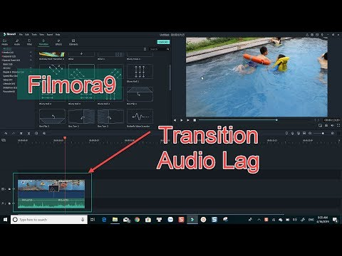 How to fix audio lag when using Transition in Filmora9