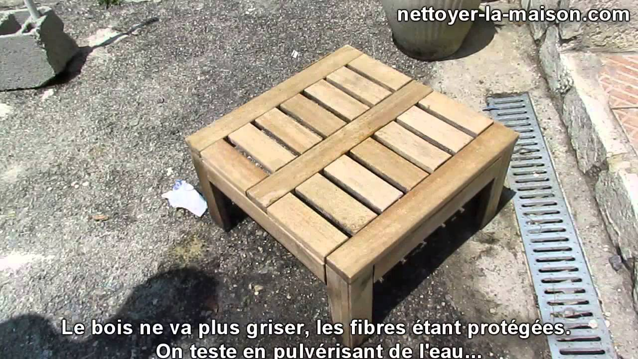mobilier de jardin en teck d 39 ext rieur protection du bois youtube. Black Bedroom Furniture Sets. Home Design Ideas