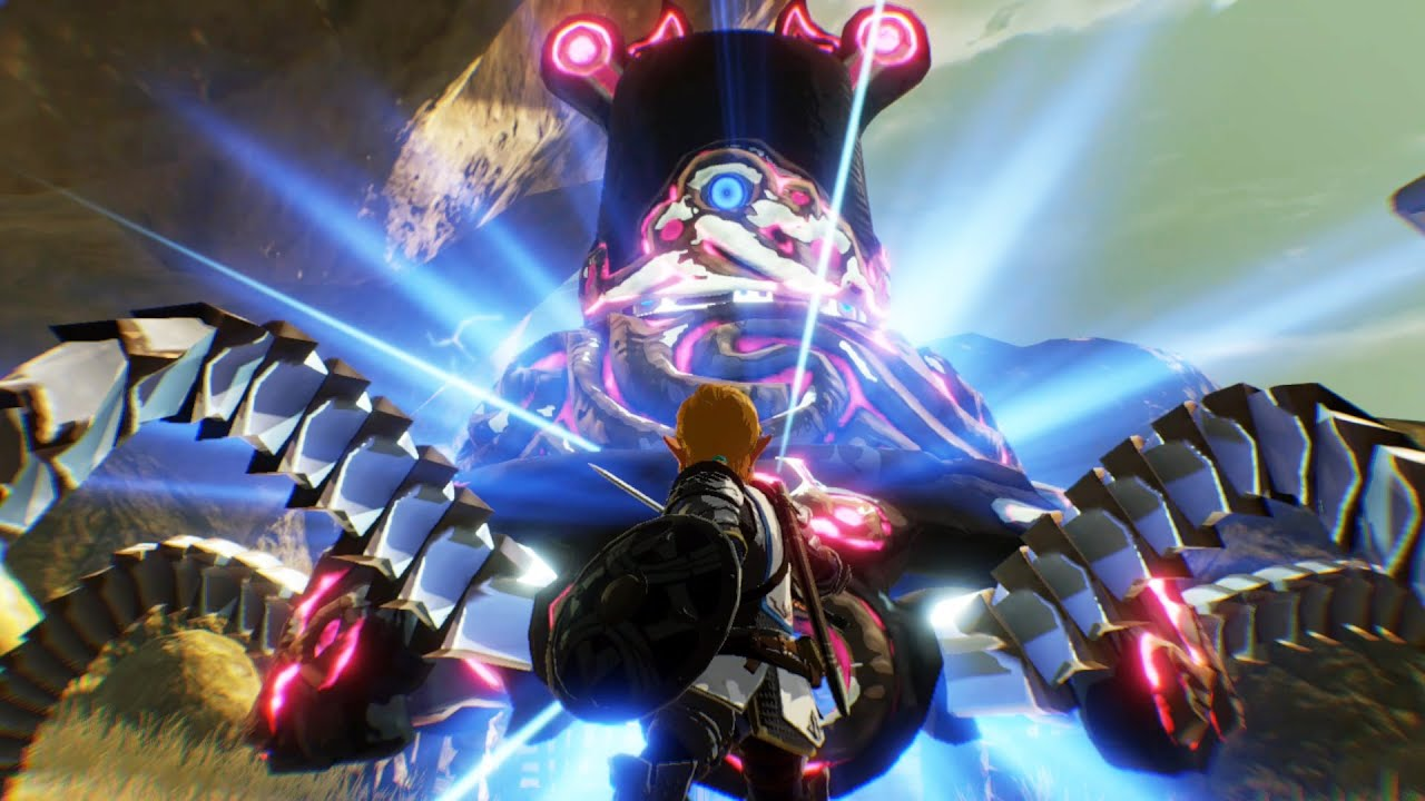 Hyrule Warriors Age Of Calamity Guardian Boss Fight Youtube
