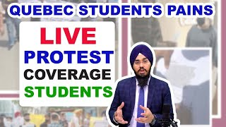 QUEBEC PROTEST LIVE UPDATE | ON LOCATION ELANTE MALL CHD. PAIN OF QUEBEC STUDENT